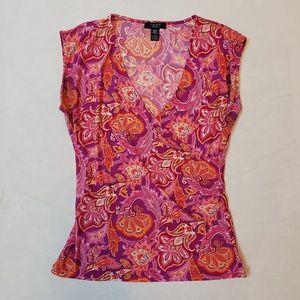 Multi-colour CHAPS Sleeveless top